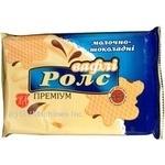 Вафлі Житомирські ласощі Ролс Преміум Молочно-Шоколадні 100г