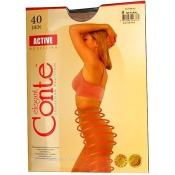 Tights Conte Active natural polyamide for women 40den 4size - buy, prices for Novus - image 2