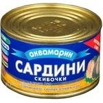 Рыба сардина Аквамарин с добавлением масла 240г железная банка Украина