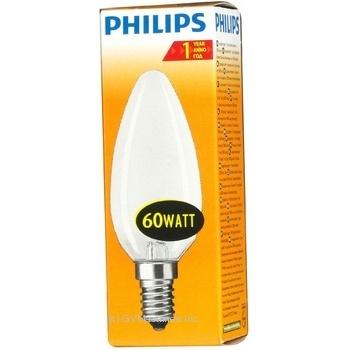 Лампа Philips B35 свічка матова 60w Е14 FR
