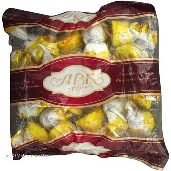 Candy Avk Gillian chocolate banana with filling 400g packaged Ukraine