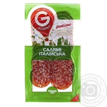 Колбаса Глобино Салями Итальянская нарезка сырокопченая высшего сорта 80г - купить, цены на Фуршет - фото 2