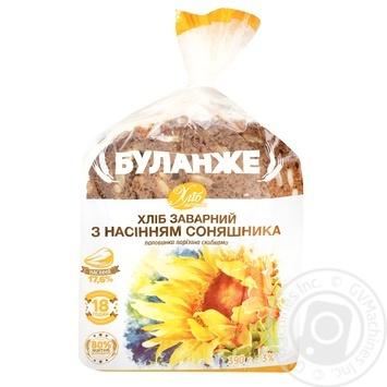 Хліб Буланже Хліб Житомира заварний з насінням соняшника половинка нарізаний 390г - buy, prices for Auchan - photo 1