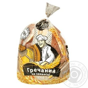 Хліб гречаний Хліб Житомира на заквасці половинка нарізаний 350г - купити, ціни на Ашан - фото 1