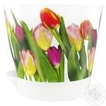 Кашпо Idea Ника тюльпаны 18cм 2,7л