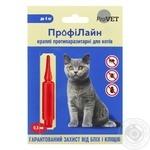 Капли противопаразитарные Природа Профилайн для котов до 4кг 1шт.х0,5мл