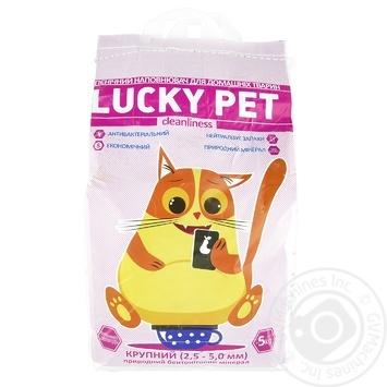Наповнювач бентонітовий Lucky Pet Лаванда крупний 5кг - купити, ціни на МегаМаркет - фото 1