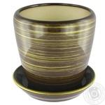 Gratsiya No.4 Gloss Chocolate-Gold Flowerpot 1,2l