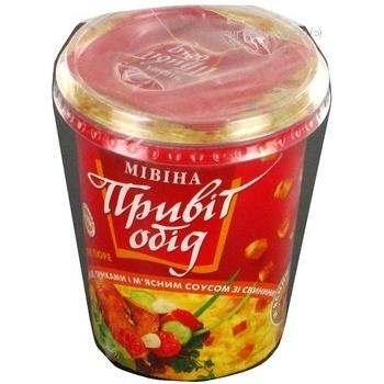 Пюре Мивина Привет обед свинина свинина 52г Украина