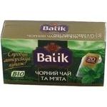 Чай Батик мята черное пакетированный 20шт 35г Украина