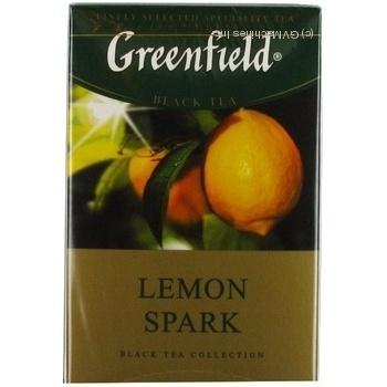 Черный чай Гринфилд Лемон Спарк цейлонский байховый с цедрой и ароматом лимона в пакетиках 25х1.5г