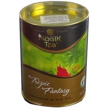 Чай Меджик ти черное рассыпной 100г железная банка
