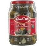 cucumber Same toi slightly acidic 840g glass jar Ukraine