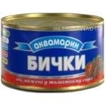 Бычки Аквамарин обжаренные в томатном соусе 240г