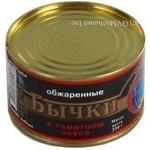 Риба бички Істок смажена 250г залізна банка Україна