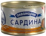 Fish sardines Akvamaryn with addition of butter 240g can