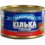 Килька Аквамарин черноморская обжаренная с фасолью в томатном соусе 240г Украина