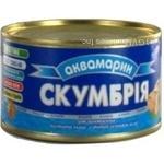 Скумбрія Аквамарин атлантична з добавленням олії 240г Україна