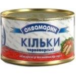 Кильки Аквамарин черноморские обжаренные в томатном соусе 240г Украина