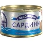 Fish sardines Akvamaryn with addition of butter 240g can Ukraine