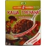 Каша Эко Велыка ложка гречневая с грибами в сметанном соусе 40г х 5шт Украина