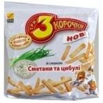 Сухари Три корочки со вкусом сметаны 40г Украина