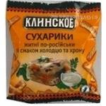 Сухарики по-російськи Холодець з хріном Клінські 40г