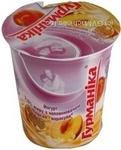 Йогурт Гурманіка персик 2.5% 350г пластиковий стакан Україна