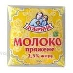 Baked milk Dobriana 2.5% sachet 500g Ukraine