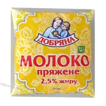 Молоко Добряна топленое 2.5% пленка 500г Украина