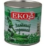 Vegetables pea Eko green canned 420g can Hungary