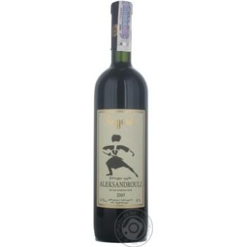 Вино Bugeuli Aleksandrouli красное сухое 12.5% 0,75л - купить, цены на МегаМаркет - фото 1