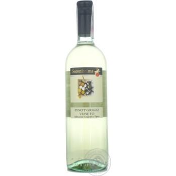 Вино піно грі Сереніссіма біле сухі 12% 750мл Італія