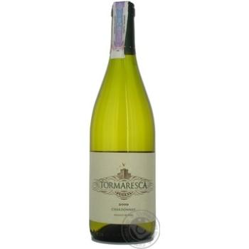 Вино шардонe Тормареска белое сухие 12% 2004год 750мл стеклянная бутылка Италия