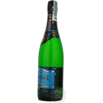 Шампанское КЗШВ Украинское белое сладкое 10,5-12,5% 0,75л - купить, цены на Novus - фото 6