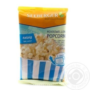 Попкорн для СВЧ з сіллю Seeberger 100г