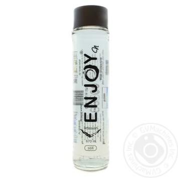 Вода мінеральна негазована ENJOYприродна столова Печаєвська сульфатно-гідрокарбонатна натрієва 0,5л скляна пляшка - купити, ціни на Novus - фото 1