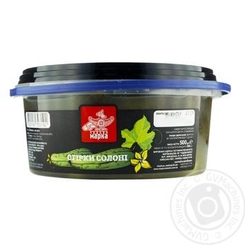 Огурцы Чудова Марка соленые 500г - купить, цены на Ашан - фото 1