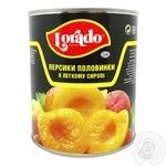 Персики Лорадо половинки в легком сиропе 820г Греция - купить, цены на Novus - фото 1