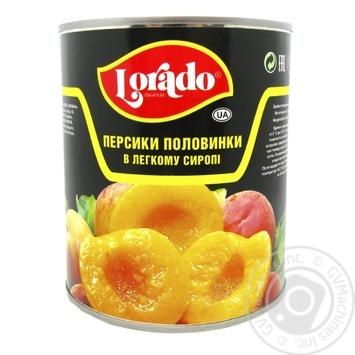 Персики Лорадо половинки в легкому сиропі 820г Греція - купити, ціни на Novus - фото 1