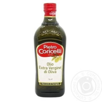 Oil Pietro coricelli olive extra virgin 1000ml glass bottle - buy, prices for Novus - image 1