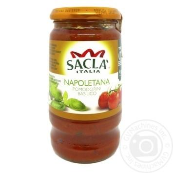 Соус Sacla Неаполитано с целыми томатами и базиликом 420г - купить, цены на Novus - фото 1