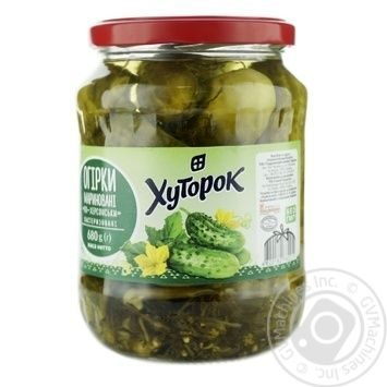 Hutorok Kherson Pickled Cucumbers 680g - buy, prices for Novus - image 2