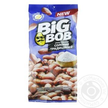 Арахис Big Bob Традиционный жареный соленый в кожуре 65г - купить, цены на СитиМаркет - фото 1