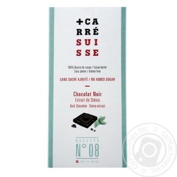 Шоколад Carre Suisse черный с подсластителями 100г