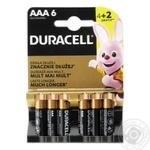 Батарейки Duracell AAA 4+2шт