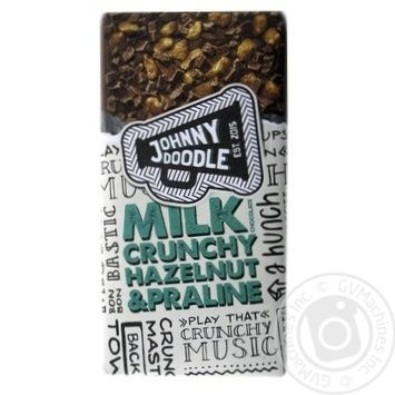 Chocolate milky Johnny doodle with hazelnuts bars 150g - buy, prices for Novus - image 1