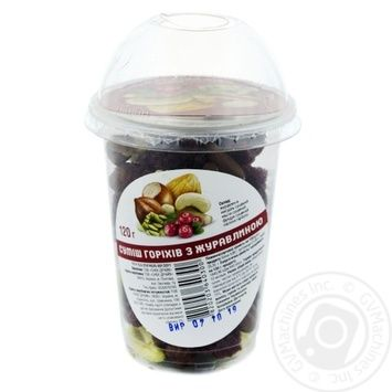 Almond Nuts and Cranberry Mix 120g - buy, prices for Novus - image 1