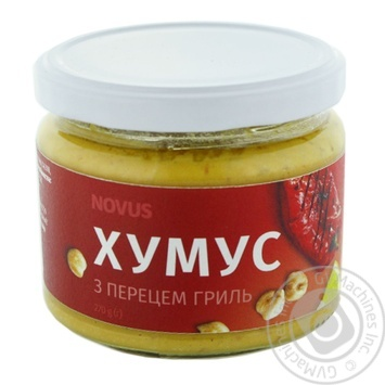 Хумус Novus с перцем грилье 270г - купить, цены на Novus - фото 1