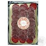 Ковбаса Organic Meat Салямі з яловичини сиров'ялена нарізана 80г